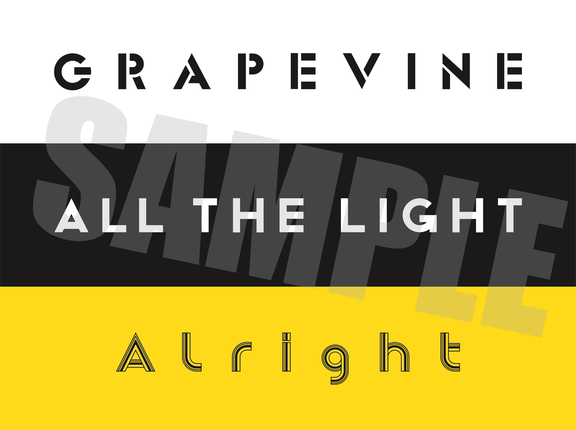 GRAPEVINE『ALL THE LIGHT』box logoステッカー